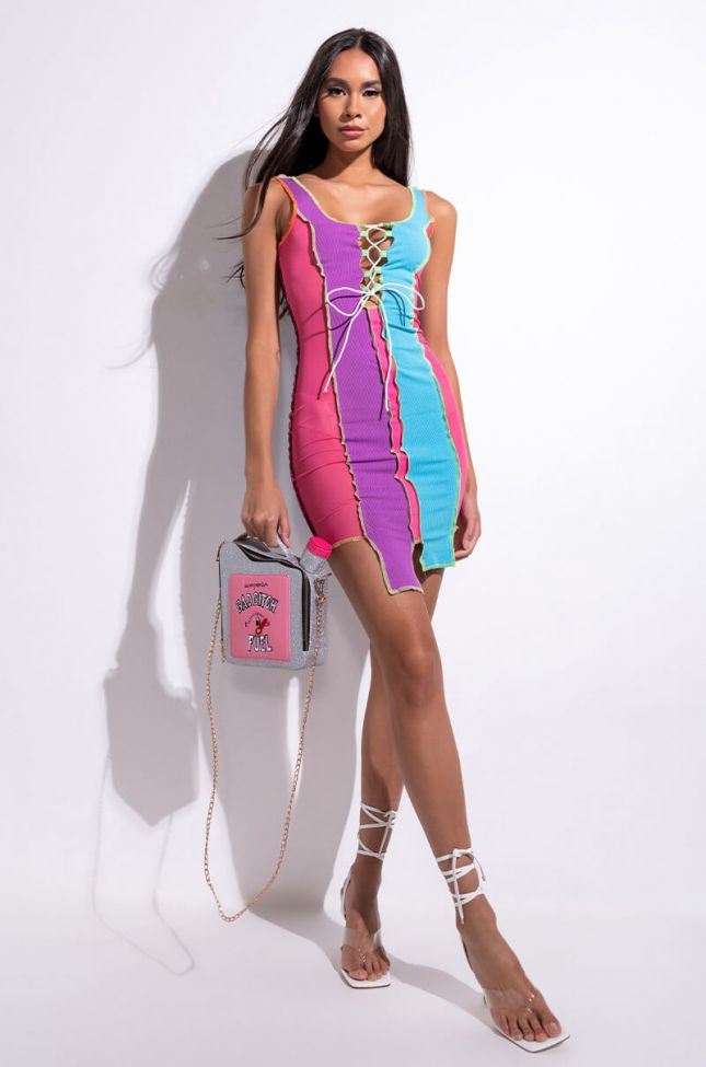 Extra View Taste Like Candy Mini Mesh Dress