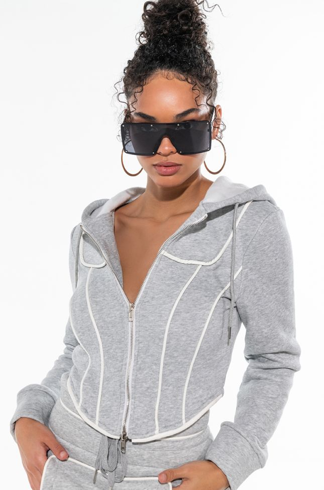 THE BABE CASUAL CORSETTED SWEATSHIRT