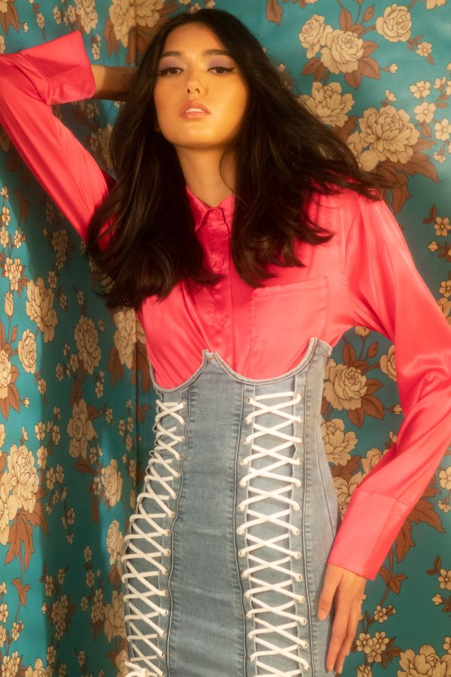 THE NEW CLASSIC CROPPED SATIN BLOUSE