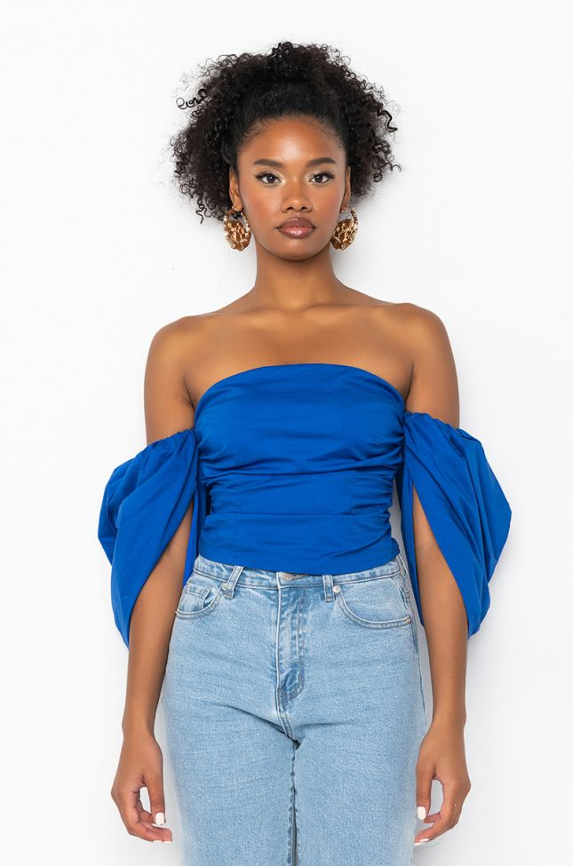 Side View The Only One Puff Sleeve Blouse