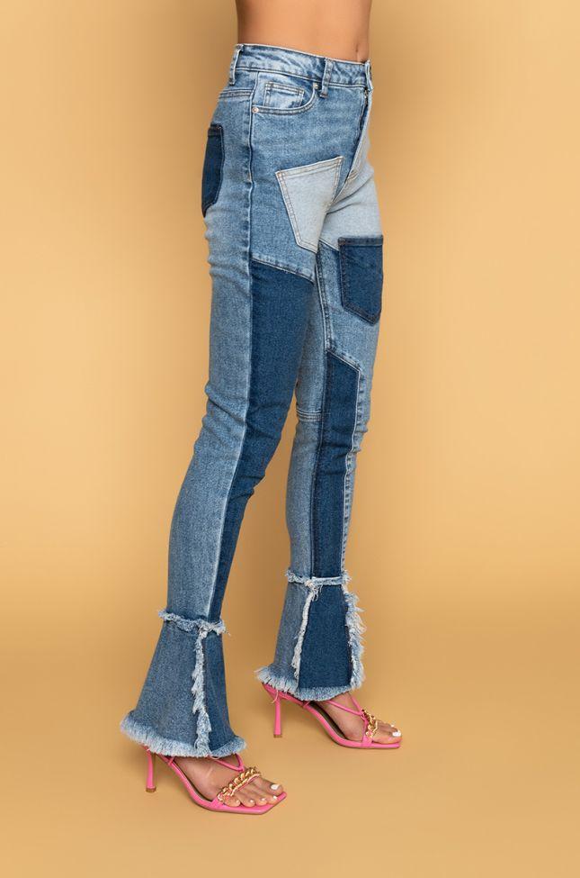 Back View Third Generation Nouveau Flare Jeans in Medium Blue Denim