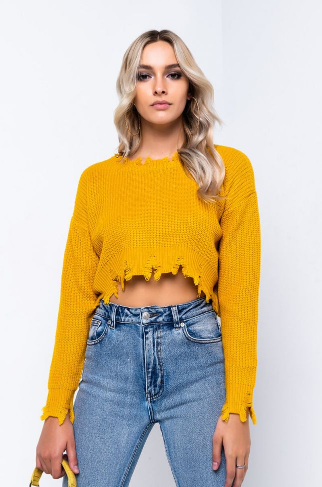TOP IT ALL LONG SLEEVE CROPPED SWEATER