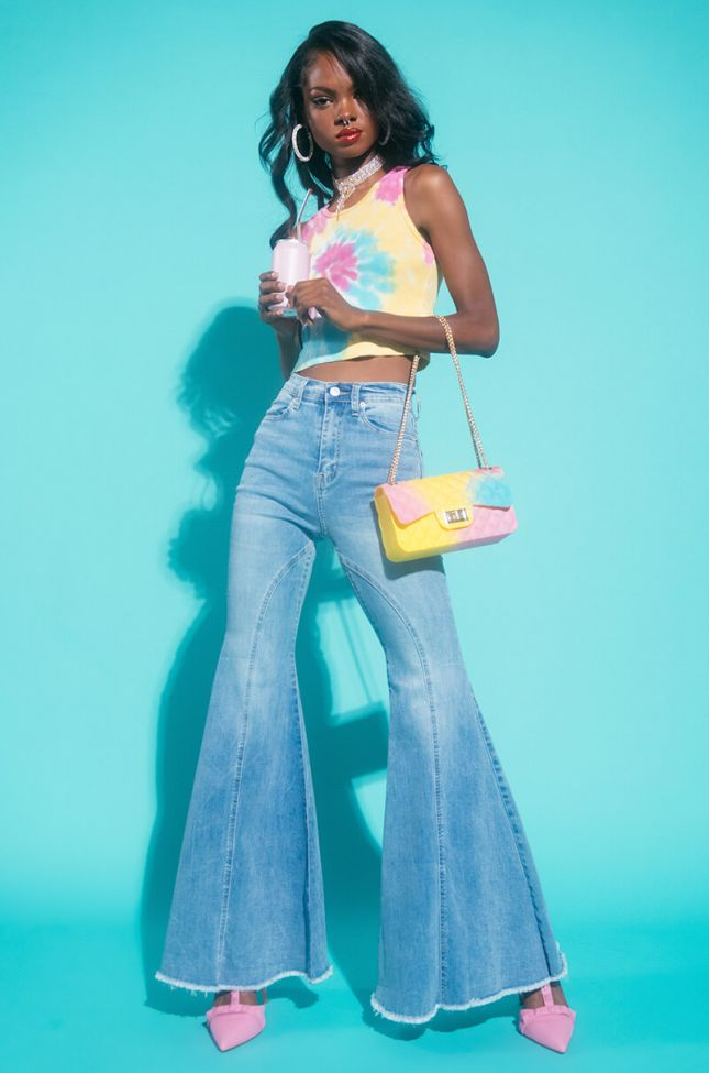 TRUST THE PROCESS HIGH WAISTED SUPER FLARE JEANS