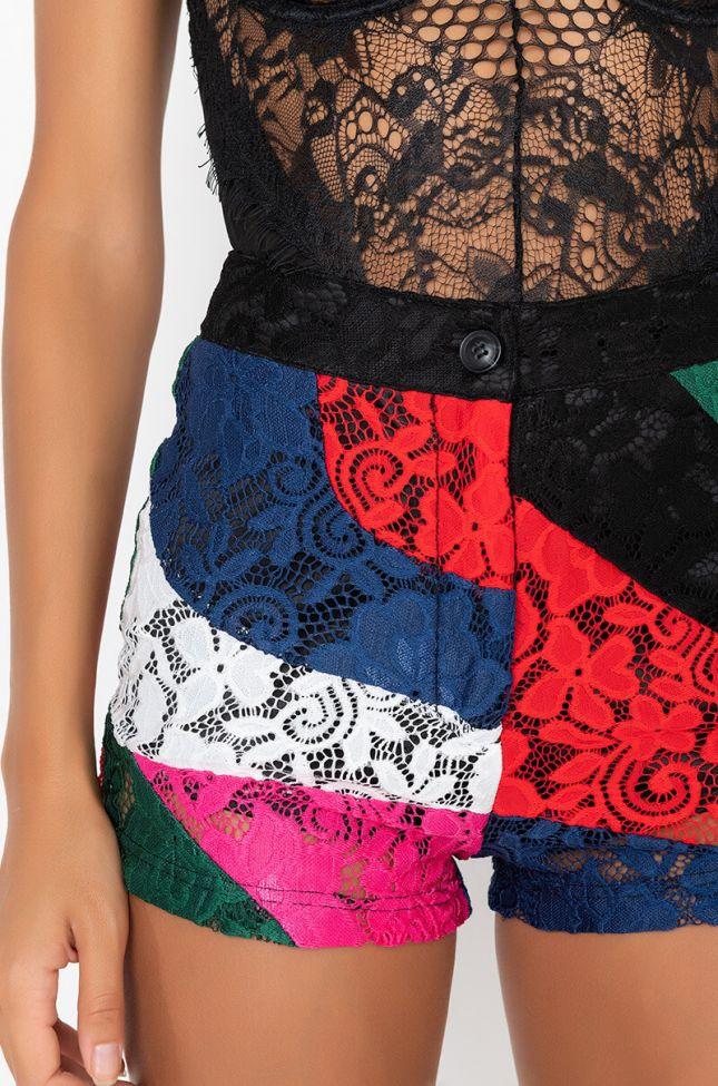 Detail View Try Me Colorblock Lace Short