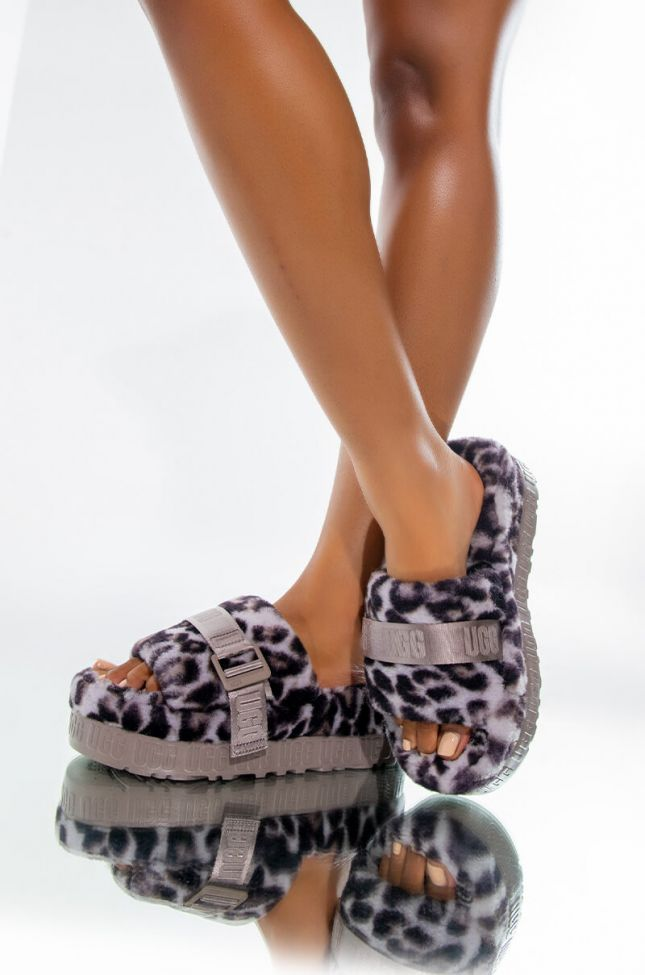 Front View Ugg Fluffita Panther Print