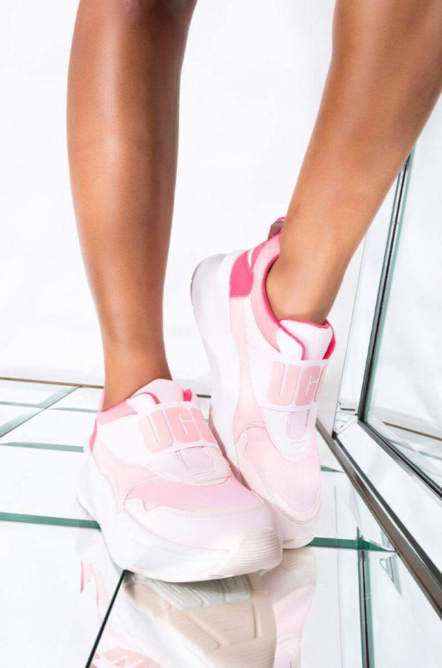 Front View Ugg La Flex Sneaker in Rose Water Gradient