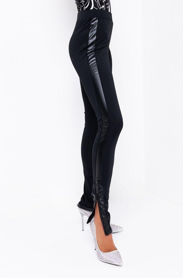Side View Venus High Waisted Leggings in Black