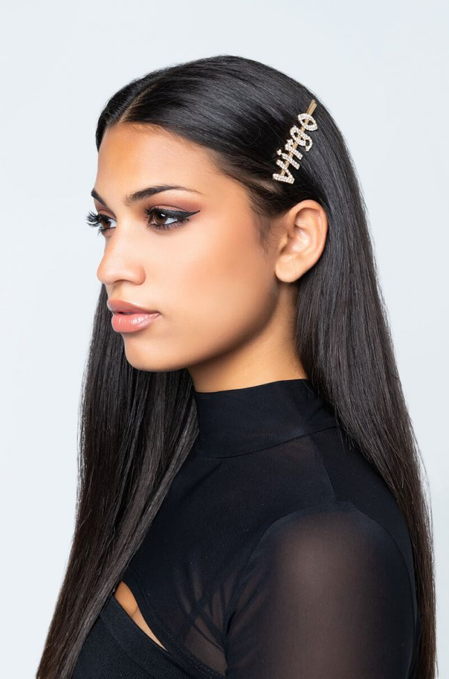Front View Virgo Hair Clip in Gold