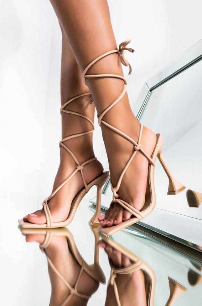 Front View Walk Into The Club Like Stiletto Sandal in Nude
