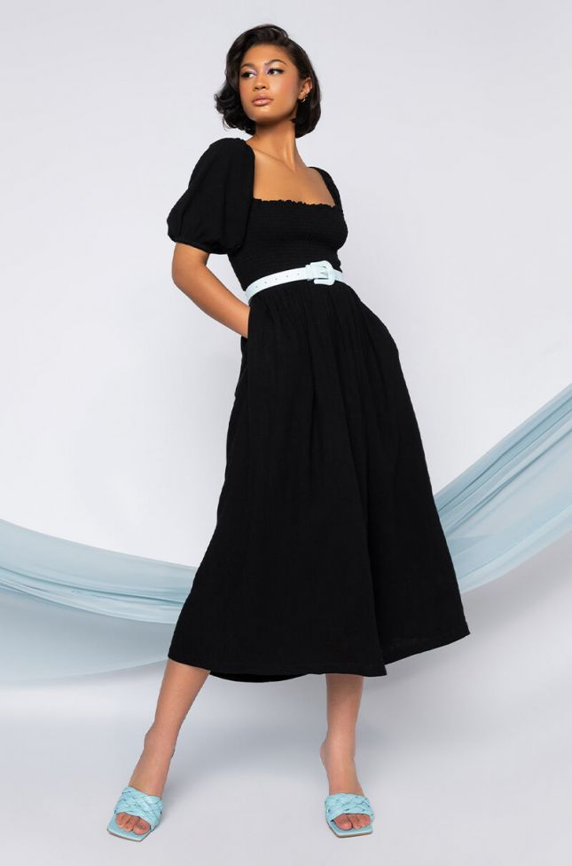 Front View When In Doubt, Wear Black Maxi Dress With Cut Out Back in Black