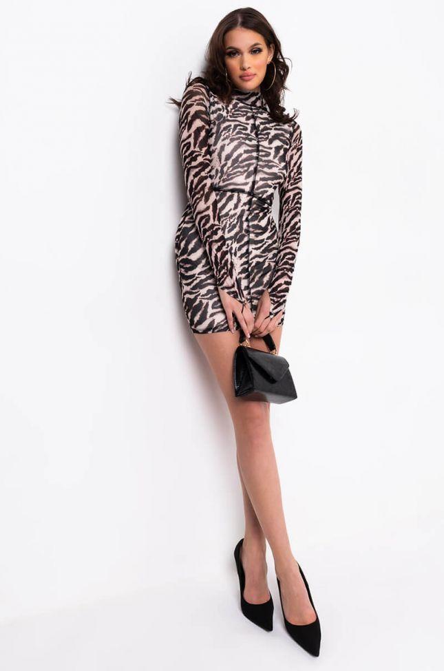 Full View Wild Thots Animal Print Midi Dress in Brown Multi