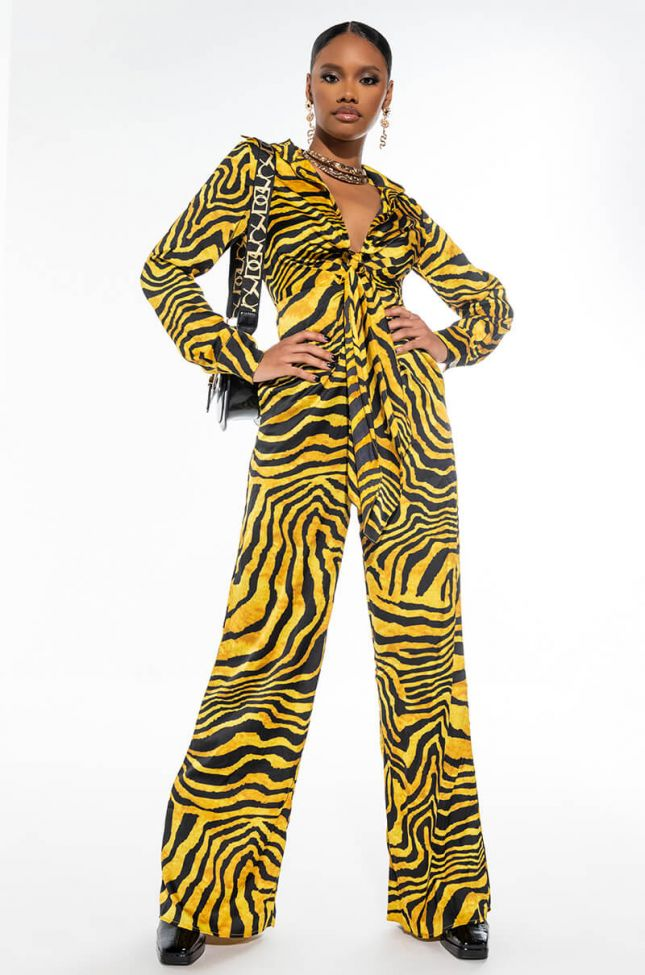 WILDN' OUT LONG SLEEVE JUMPSUIT