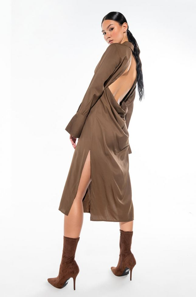Extra View Your Only Love Maxi Button Up Dress