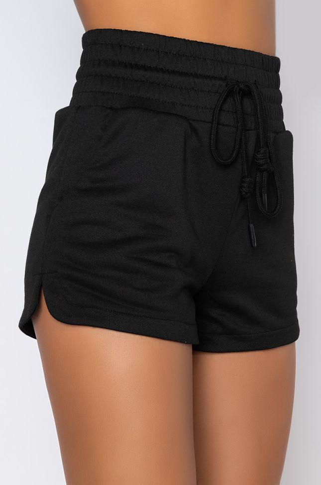 Detail View Zizi Dolphin Shorts in Black
