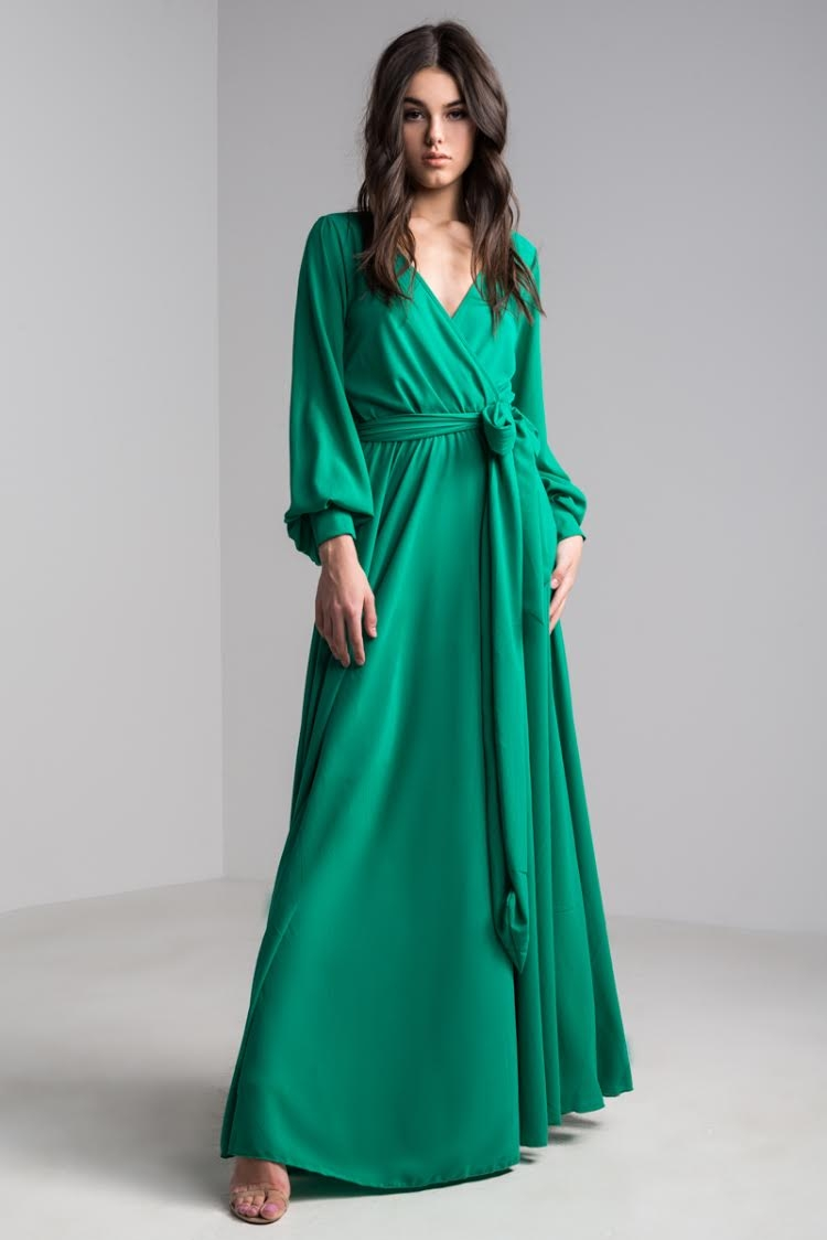 Maxi Dress | Wrap Front Dresses | Special Occasion Gowns -AKIRA