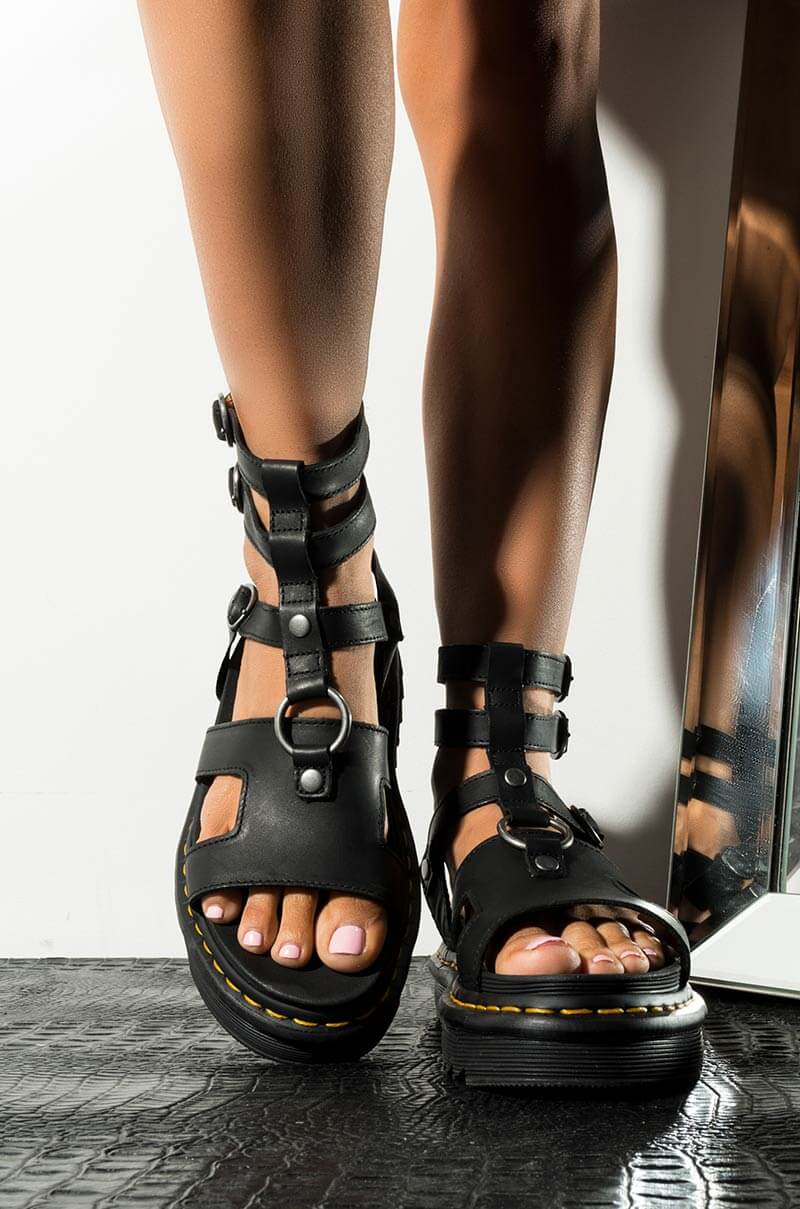 Dr Martens Womens Strappy Chunky Sole Gladiator Sandals