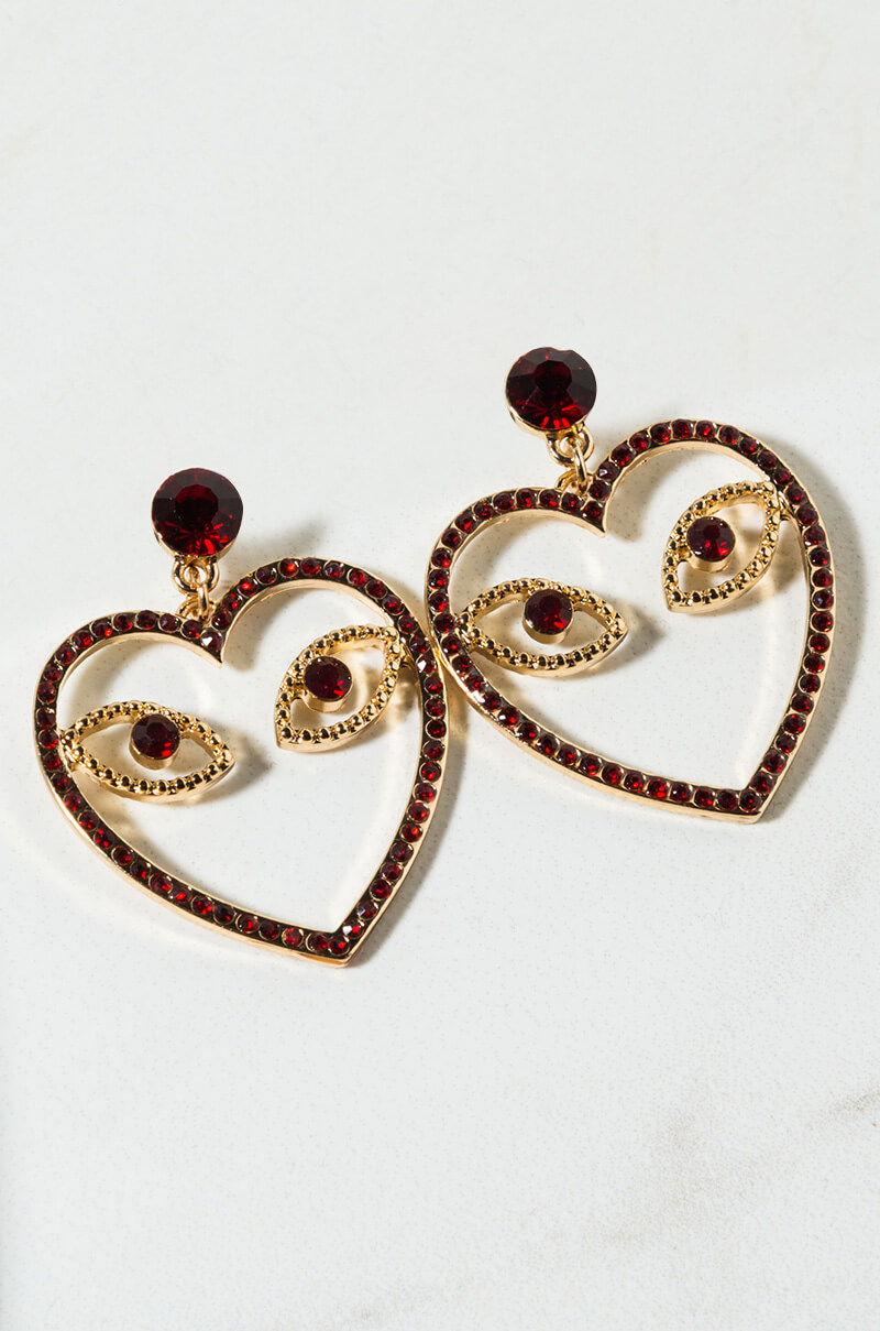 Eyes Without A Face Heart Earring by Akira