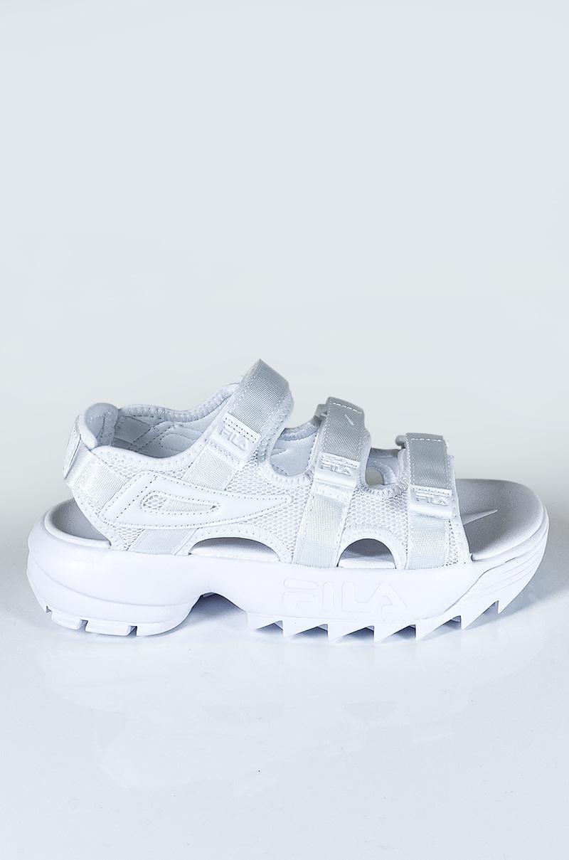 Women's Fila Disruptor Sandal in All White