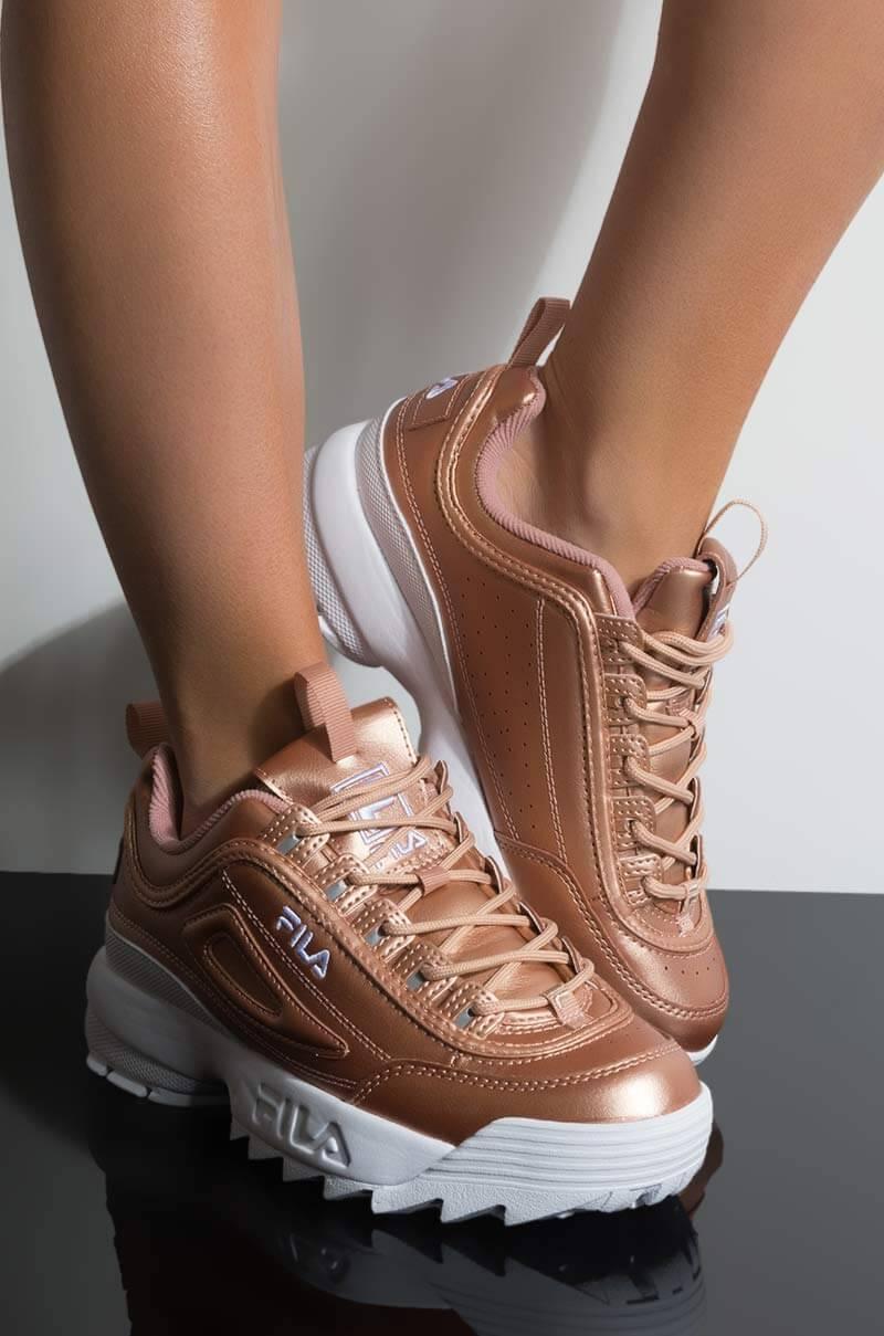 FILA Womens Disruptor Sneaker, In Rose