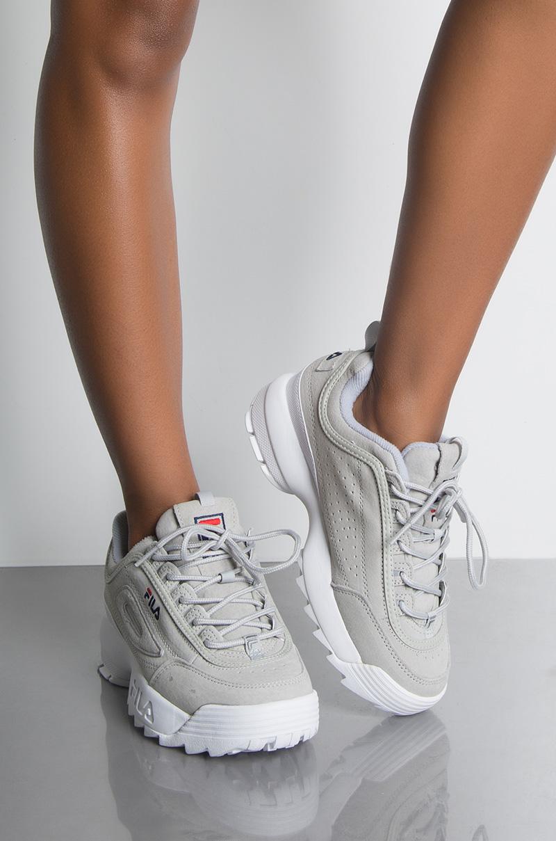 88eb546ec9ae FILA Disrupter II Suede Sneaker in Grey Violet White
