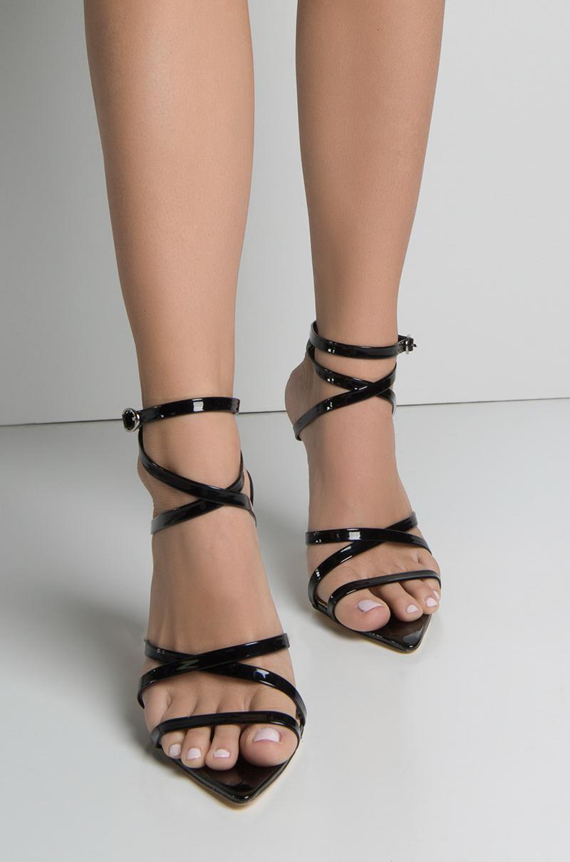 7887b807ae17c Shoptagr | Azalea Wang Freaky Friday Strappy Pointed Toe Patent ...