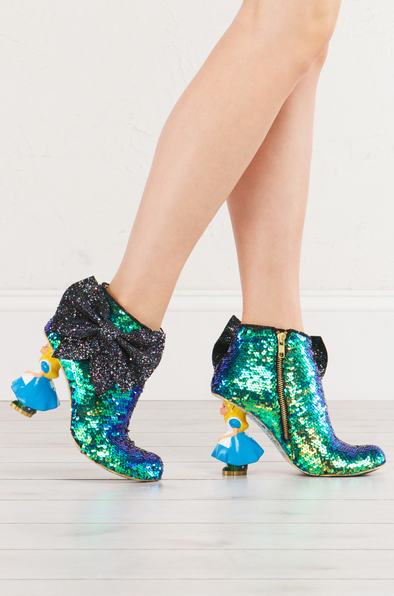 3368c4c3f41c Irregular Choice Alice In Wonderland Who In The World Am I in Blue Sequin