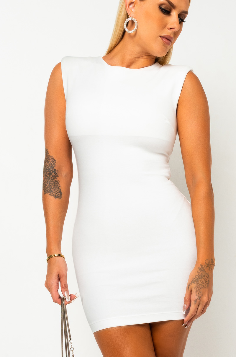 IT'S JUST THAT SIMPLE SLEEVELESS BODYCON MINI DRESS