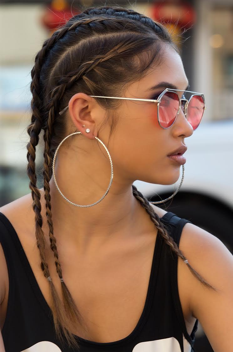 Hoop Earrings in Silver and Gold