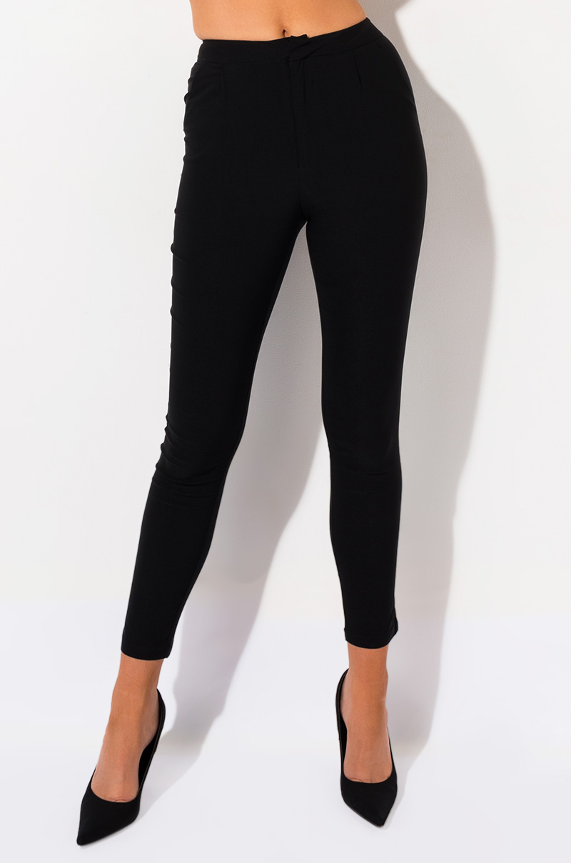 Full Womens High WAIST Long Leggings Pant Viscose BLACK SIZE UK 20 22 24 26 Tall