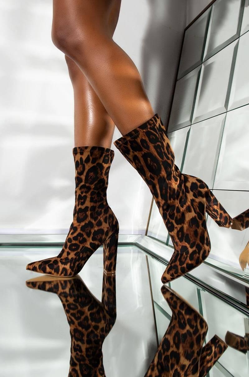 Love Bug Leopard Chunky Heel Bootie by Akira