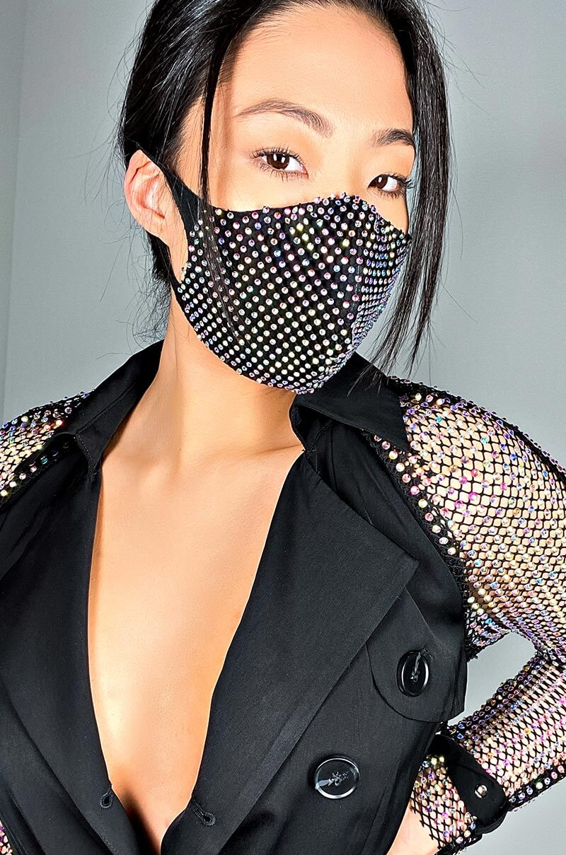 New Normal Bling Fashion Face Cover By Akira