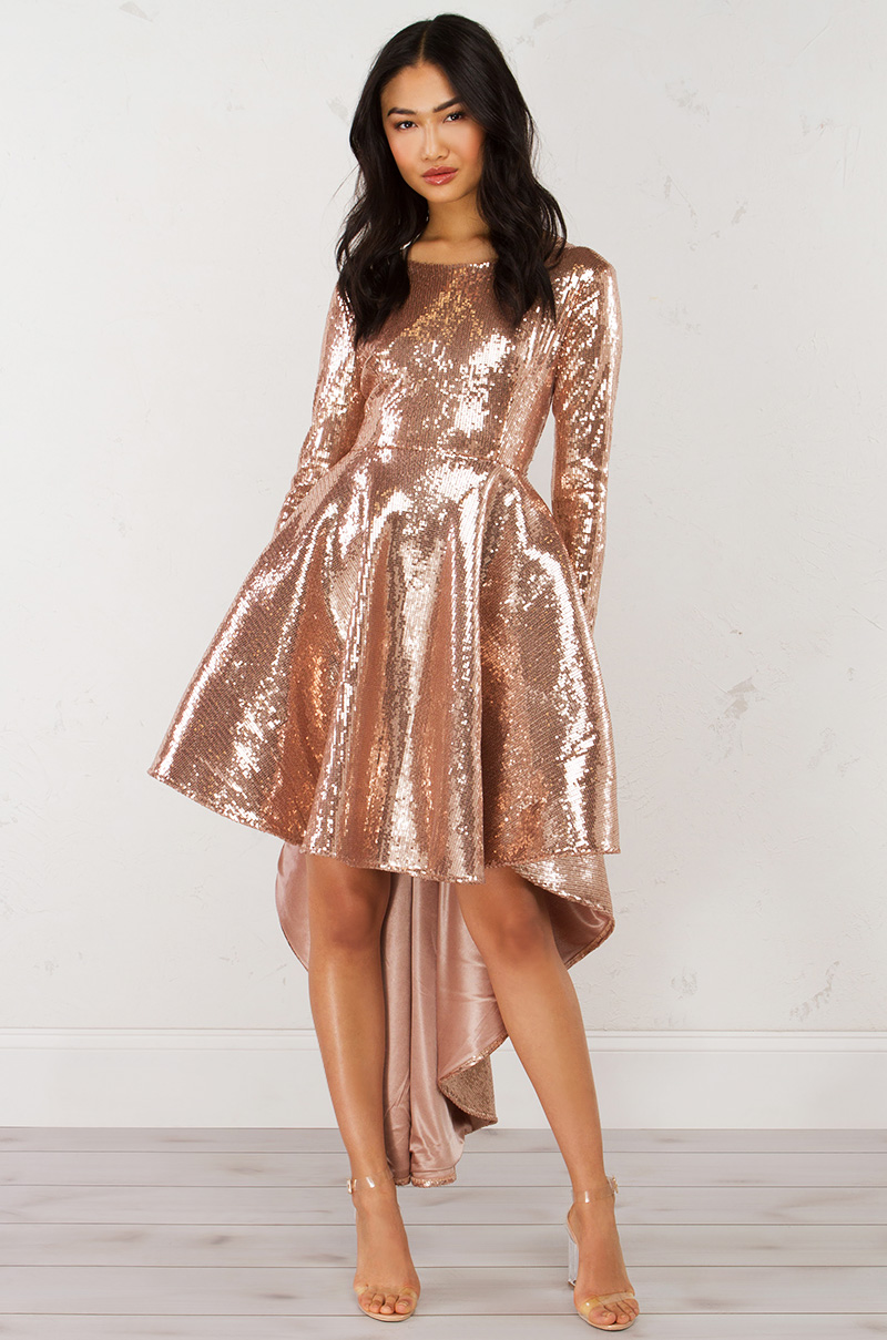 once upon a time sequin dress_rose gold_1