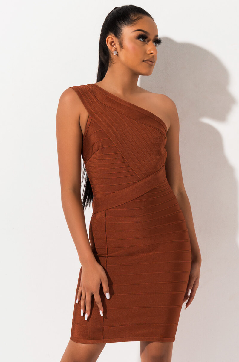 521192271946 AKIRA Straight Neck Ruched Front Thin Straps Backless Silky A Line ...