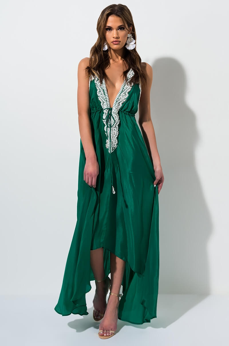 946e9744c1b6 AKIRA Beachside Babe Beaded Maxi Dress