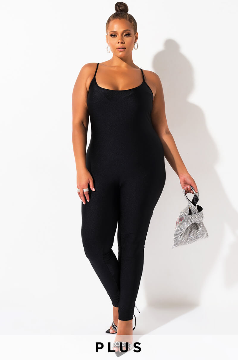 Plus Ease Into It Bodycon Jumpsuit by Akira