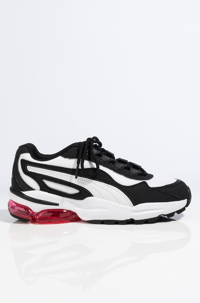 PUMA Contrast Mesh Perspex Sole Lace Up Trainer Sneaker, In