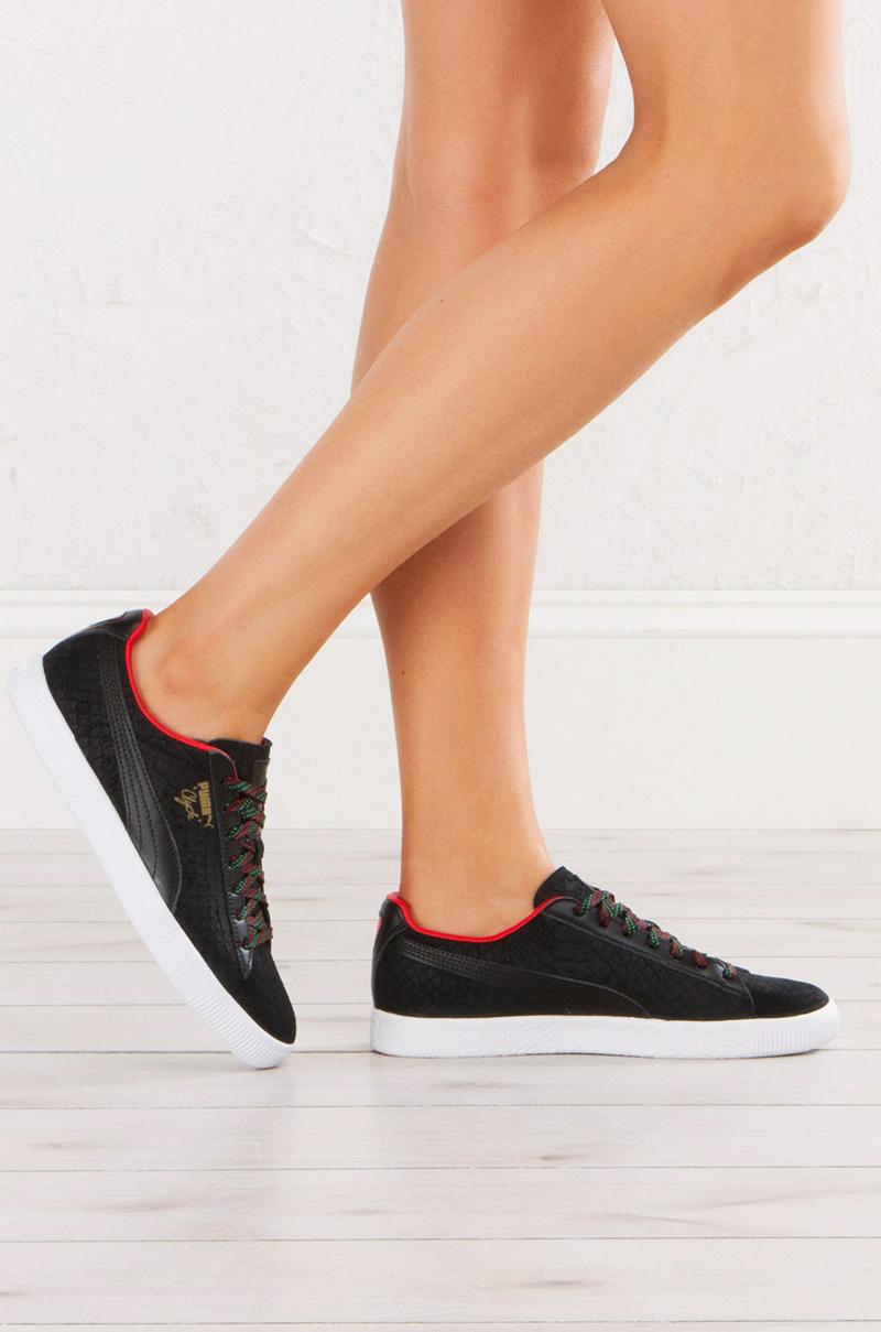 best service a24fc eb322 Puma Clyde GCC Sneaker in Black