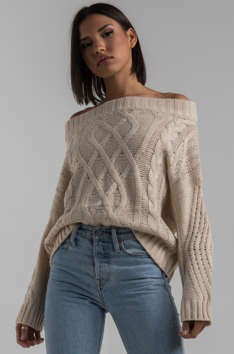 Only US, buy M long sleeve cable knit sweater with scarf beige at online sweatshirts & hoodies shop, xianggangdishini.gq5/5(3).