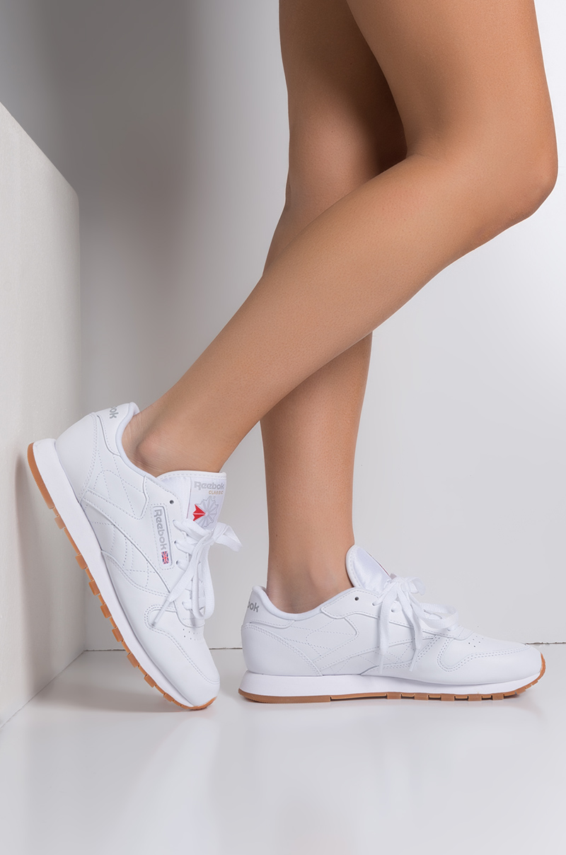 de06caa8e26 Reebok Classic Leather Gum Women s Sneaker in White