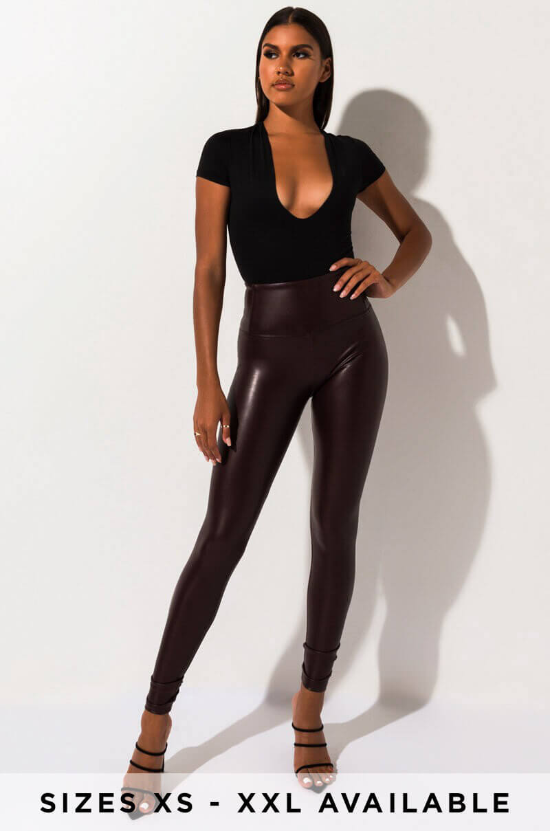 Slim Thicc Faux Leather Leggings by Akira