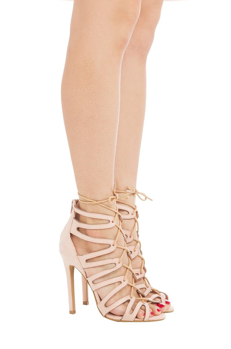 333ef1938a8b AKIRA Faux Suede PVC Strap Wedge Heel Sandal