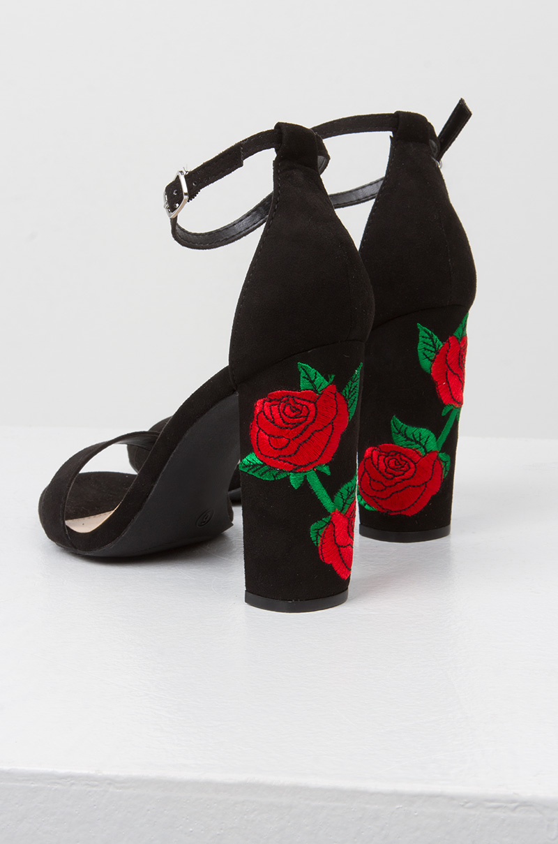 The Sweetest Thing Embroidered Heels by Akira