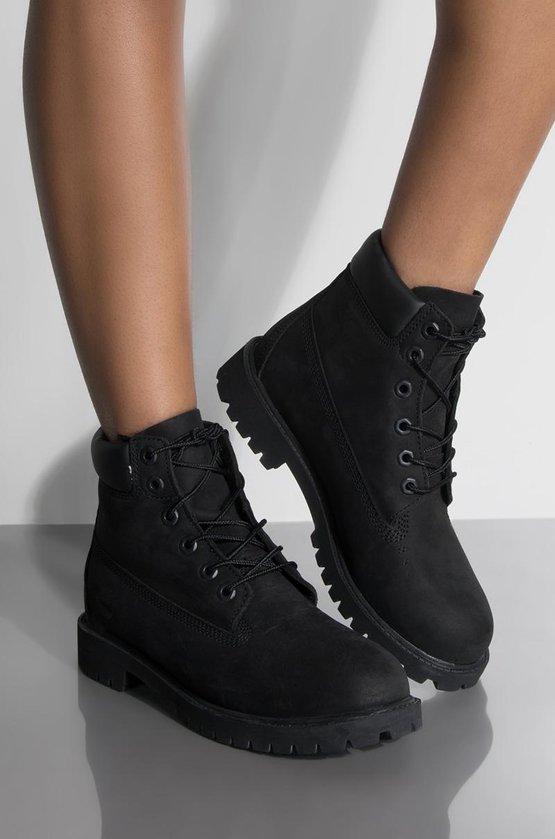 03a6d295a61a5 Timberland WOMEN'S Classic 6-Inch Waterproof Boot - Black Nubuck