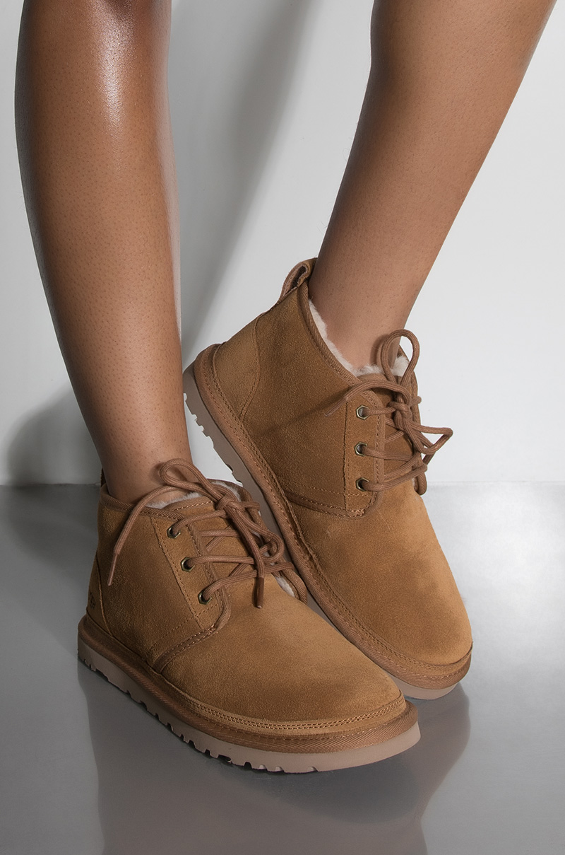 7ab9752c62b UGG Mini Lace Up Flat Boot in Chestnut and Port