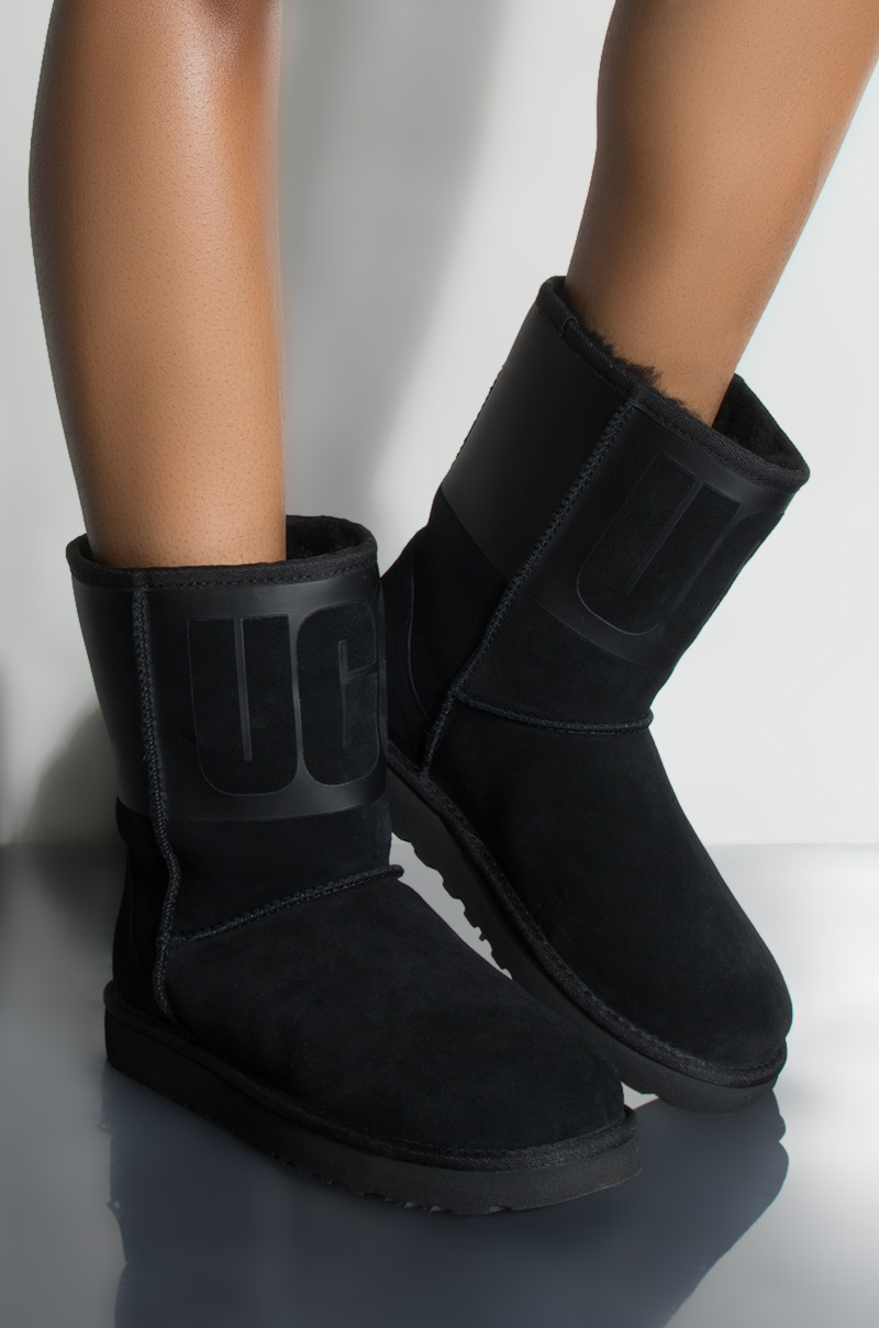 b390f15771f UGG Classic Short Rubber Boot, In Black