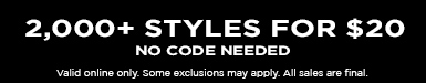2,000+ Styles for $20. No code needed.