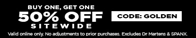 Buy one, get one 50% off Sitewide with code: GOLDEN