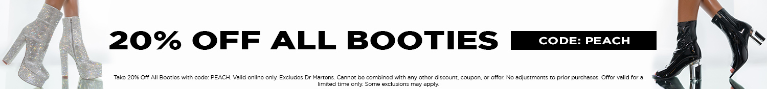 20% Off All Booties with code: PEACH