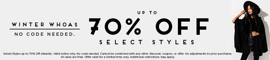 Winter Whoas. Up to 70% Off Select Styles. No code needed.