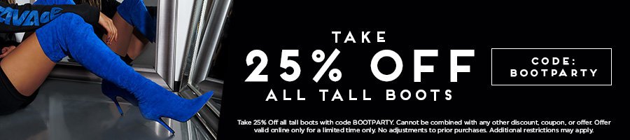 Take 25% Off All Tall Boots with code BOOTPARTY.